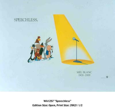 "Warner Bros. Limited Edition Lithograph:""Speechless"""