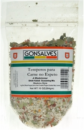 Gonsalves Temperos para Carne no Espeto (Shish-Kabob Seasoning Mix) 10 oz.
