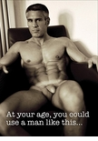 At your Age - Gay Birthday Card