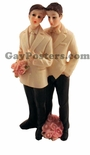 Gay Couple Males - Cake Topper 5""