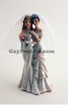 Lesbian Couple Females - Cake Topper 5""