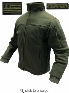 Condor Tactical Jacket - Olive Drab Microfleece + Patches
