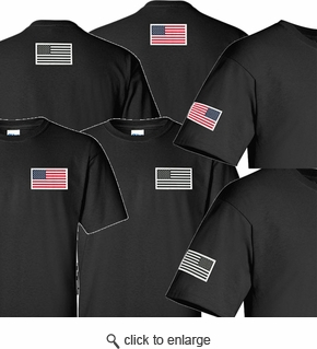 Made in USA Flag Label Black T-Shirt - View All