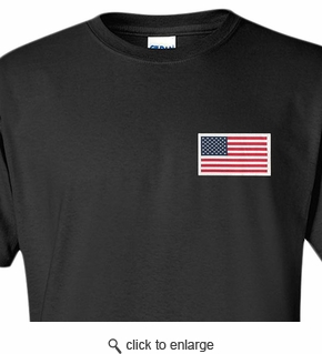 Made in USA T-Shirt - Sewn Flag - Color