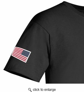 Made in USA T-Shirt - Sewn Reverse Flag - Color