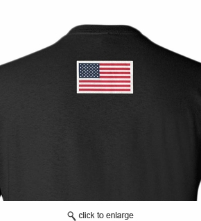 Made in USA T-Shirt - Sewn Flag on Back - Color