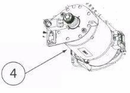 Genie 37841R.S TriloG 1200 Garage Door Opener Motor Assembly W/ Opto-Luctor Assembly