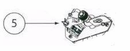 Genie 37958R.S G Power 900 Garage Door Opener Opto-Luctor Assembly