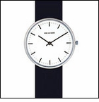 A. Jacobsen City Hall Clock Wrist Watch, White