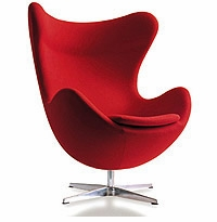 Arne Jacobsen Egg Chair - Wool 10 Color Choices! Leather 16 Color Choices!