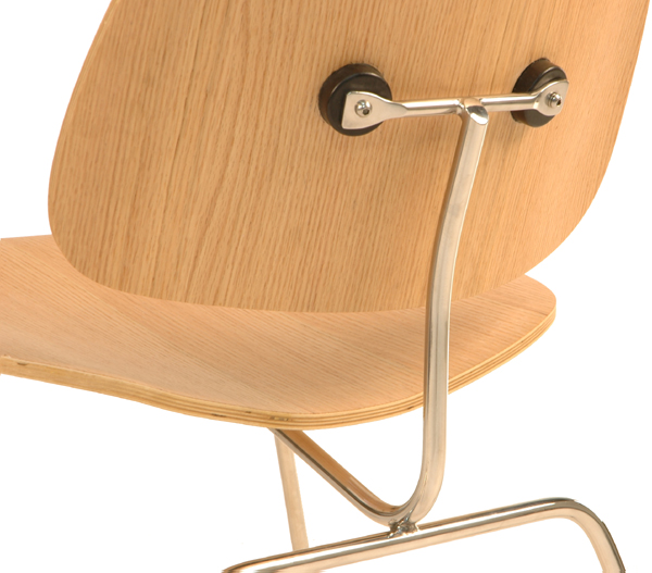 Eames Molded Plywood Dining Chair With Metal Base. Charles Eames