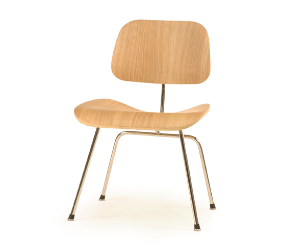 Classic Bent Plywood Dining Chair with Metal Legs - Click to enlarge