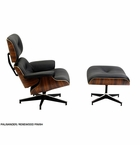 Classic Style Mid-Century Lounge Chair & Ottoman Set