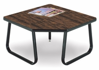 Corner Table with Sled Base