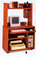 Deluxe Computer Cart With Casters