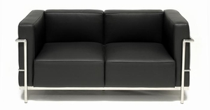 "Le Corbusier Grande Confort 58"" Loveseat LC3B2 - Click to enlarge"