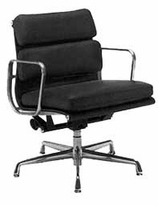 Leather Eames  Classic Style Executive Side Arm Chair