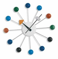 Multicolor Nelson Inspired Ball Wall Clock