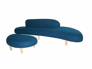 Noguchi Style Free Form Sofa & Ottoman Set - Click to enlarge