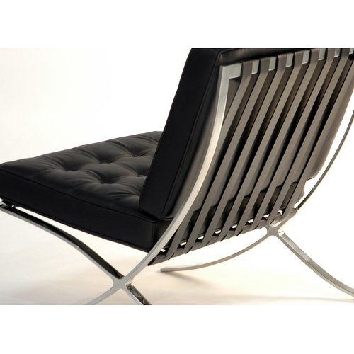 shop barcelona chair by mies van der rohe italian leather in stock