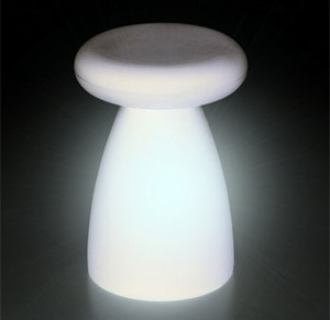 Porcino Stool with Light Lamp by Serralunga - Click to enlarge