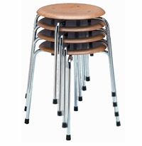 S 38 S/1 Stackable Stool by Wilde + Spieth