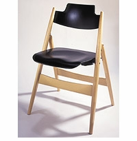 SE 18 Danish Modern Wooden Folding Chair by Wilde + Spieth