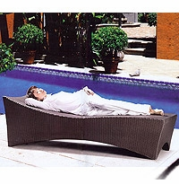 Tropical Slim Patio Chaise Lounger Chair