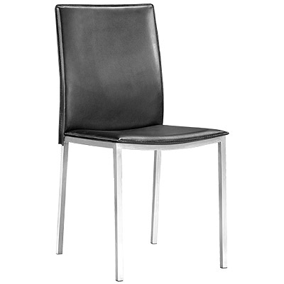 Tungsten Leather Dining Chair