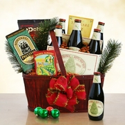 Anchor Steam & Evergreen Holiday Basket