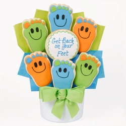 Back On Your Feet Cutout Cookie Bouquet