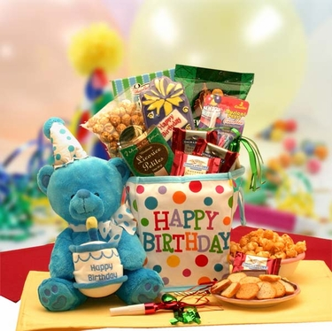 Birthday Tote With Musical Bear