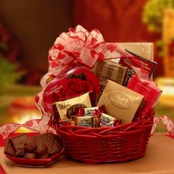 Chocolate Valentine Inspirations Gift Basket