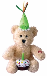 Happy Birthday Singing Plush Cupcake Bear