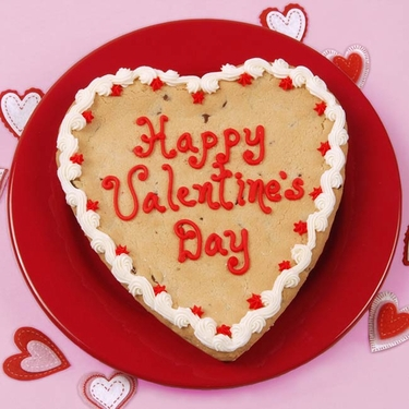 """Happy Valentine's Day"" Big Heart Cookie"