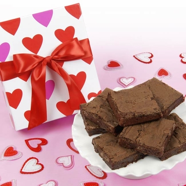 Valentine's Day Brownie Gift Box