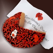 """""""Happy Valentine's Day"""" Giant Fortune Cookie"""