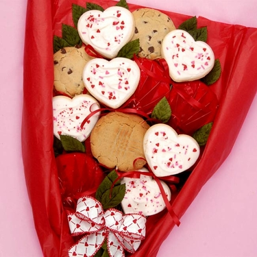 Valentine's Day Longstem Cookie Roses
