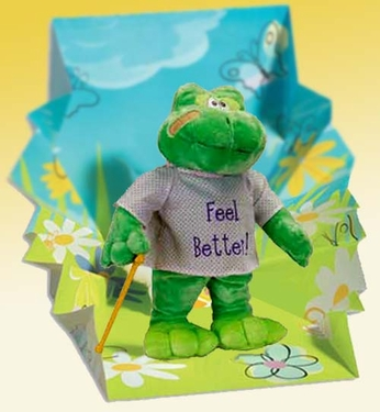 """""""Hoppy"""" The Singing Get Well Frog"""