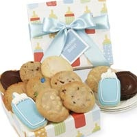 New Baby Boy Cookie Gift Box