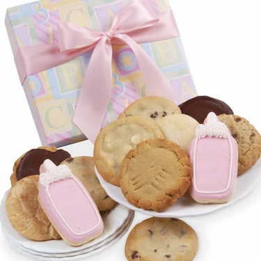 New Baby Girl Cookie Gift Box