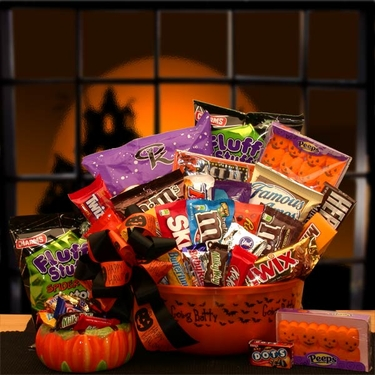 """No Tricks, Just Treats"" Goodie Bucket"