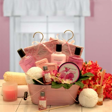 Pretty In Pink Gift Basket