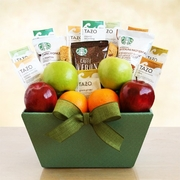 Starbucks & Fruit Gift Basket