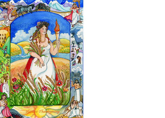 demeter the greek goddess of agriculture Demeter was a sister of hera and her responsibilities derived from the functions  of ancient earth goddesses she promoted fertility and the harvest.