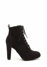 Work To Play Faux Suede Chunky Booties