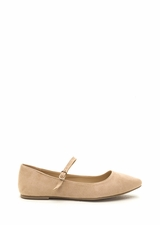 Perfectly Polished Faux Suede Flats