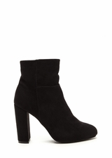 High Standards Faux Suede Booties