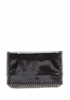 Snake By Chain Foldover Clutch