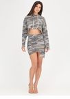 Hole Army Asymmetrical Camo Skirt